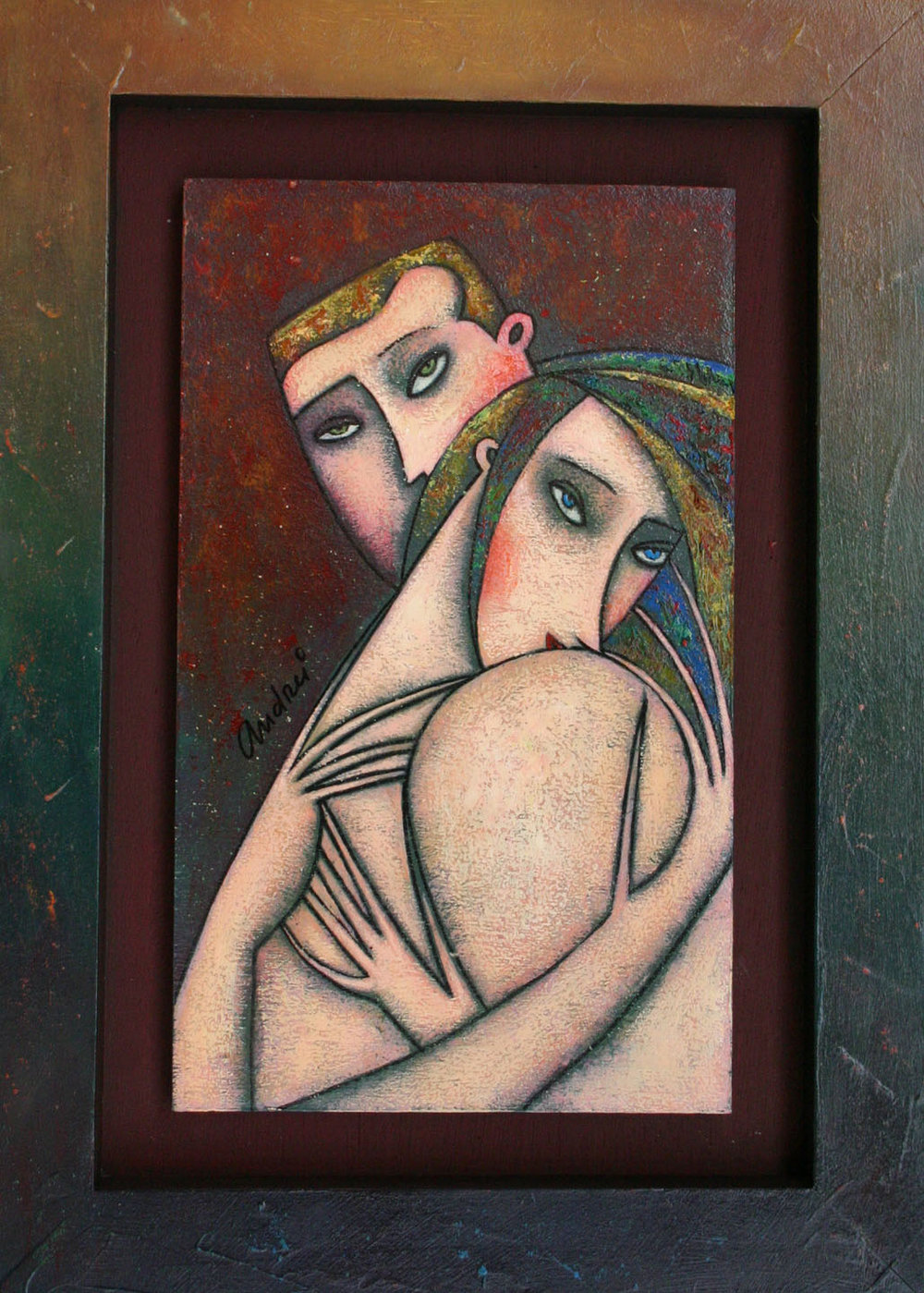 """""""You and Me"""" Oil on Wood 12"""" x 8"""""""