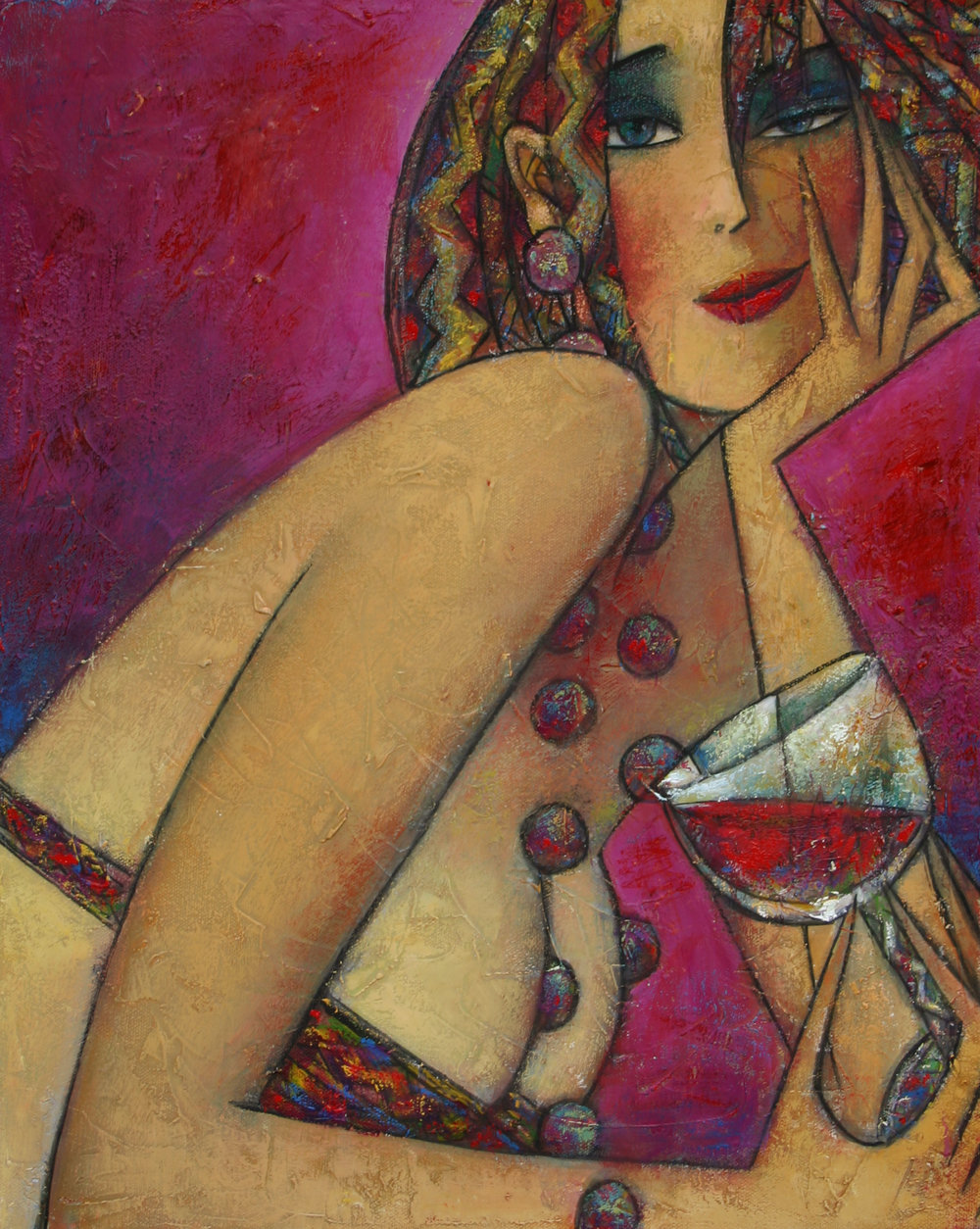 """Shiraz"" Oil on Canvas 20"" x 16"""
