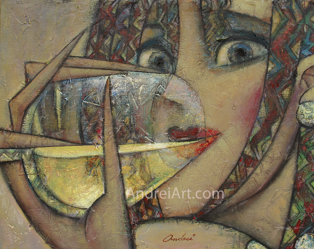 """""""Cheers"""" Oil on Canvas 16"""" x 20"""""""