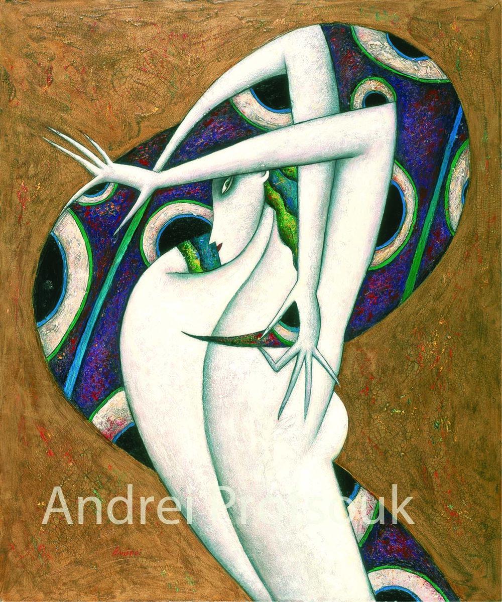 """""""Purple Octopus"""" Oil on Canvas 36"""" x 30"""""""