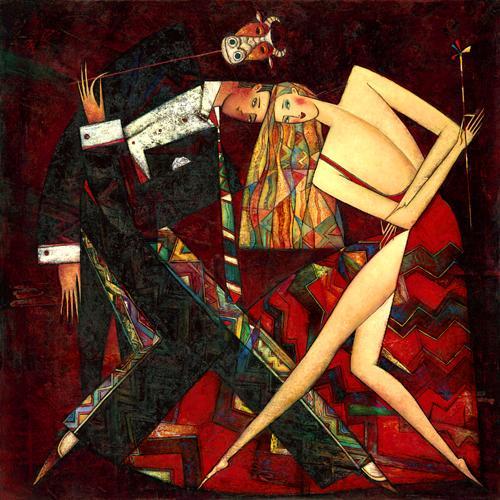 """Tango de Toro"" Oil on Canvas 32"" x 32"""