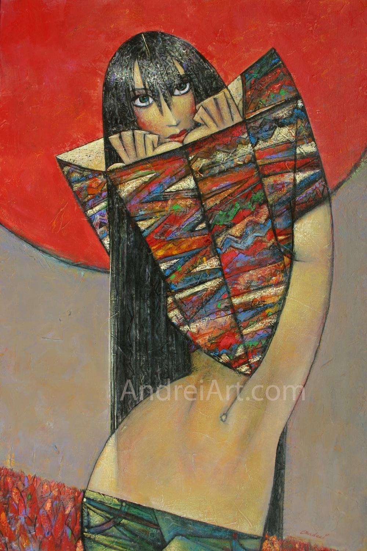 """""""Tulip"""" Oil on Canvas 36"""" x 24"""""""