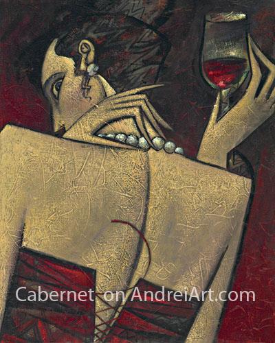 """Cabernet"" Oil on Canvas 20"" x 16"""