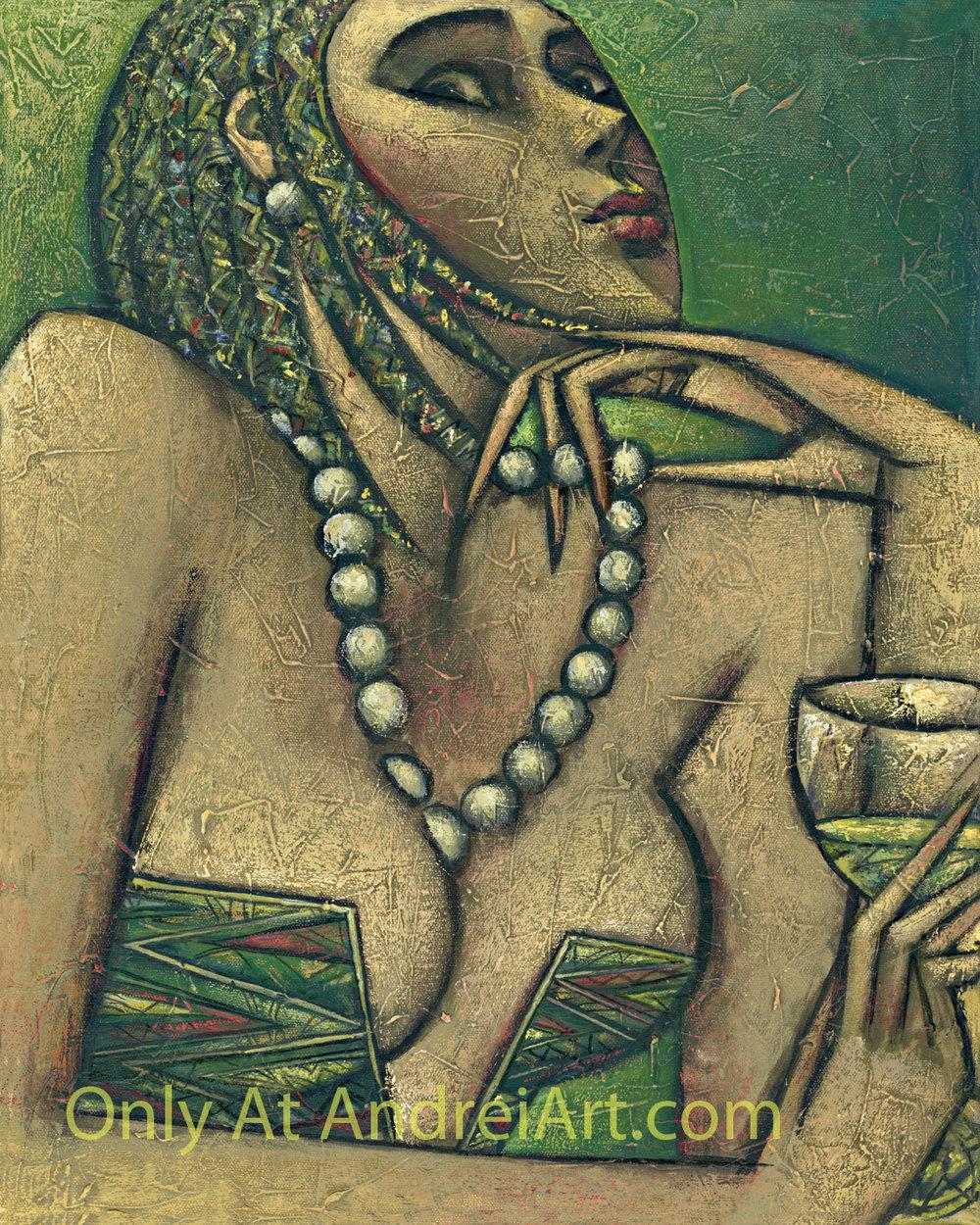 """""""Chardonnay"""" Oil on Canvas 20"""" x 16"""""""