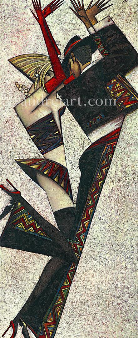 """Tango de Blanco"" Oil on Canvas 50"" x 20"""
