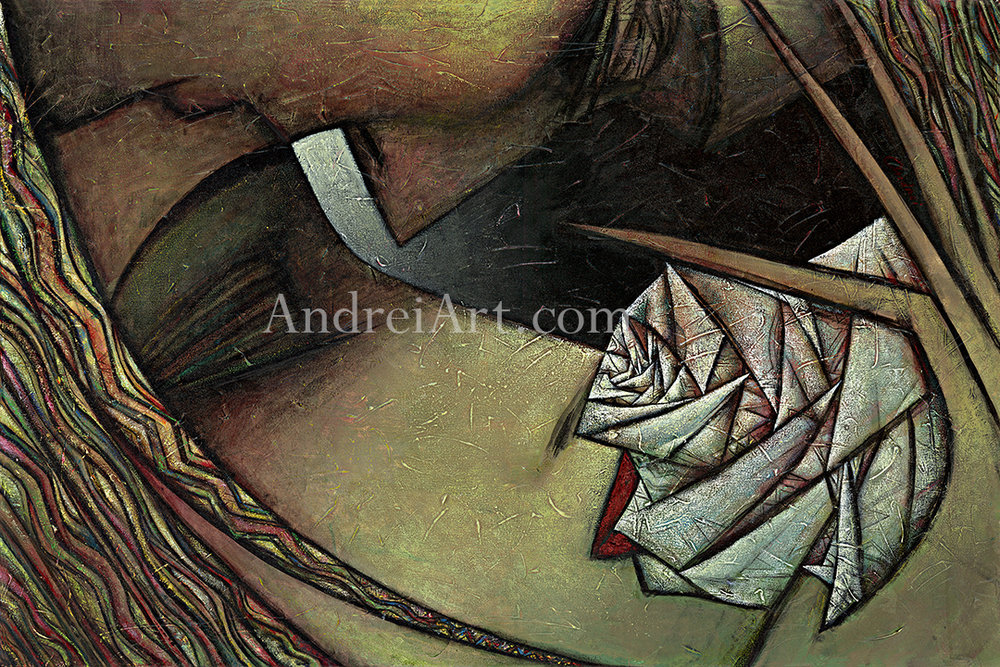 """""""Lips of Rose"""" Oil on Canvas 28"""" x 42"""""""