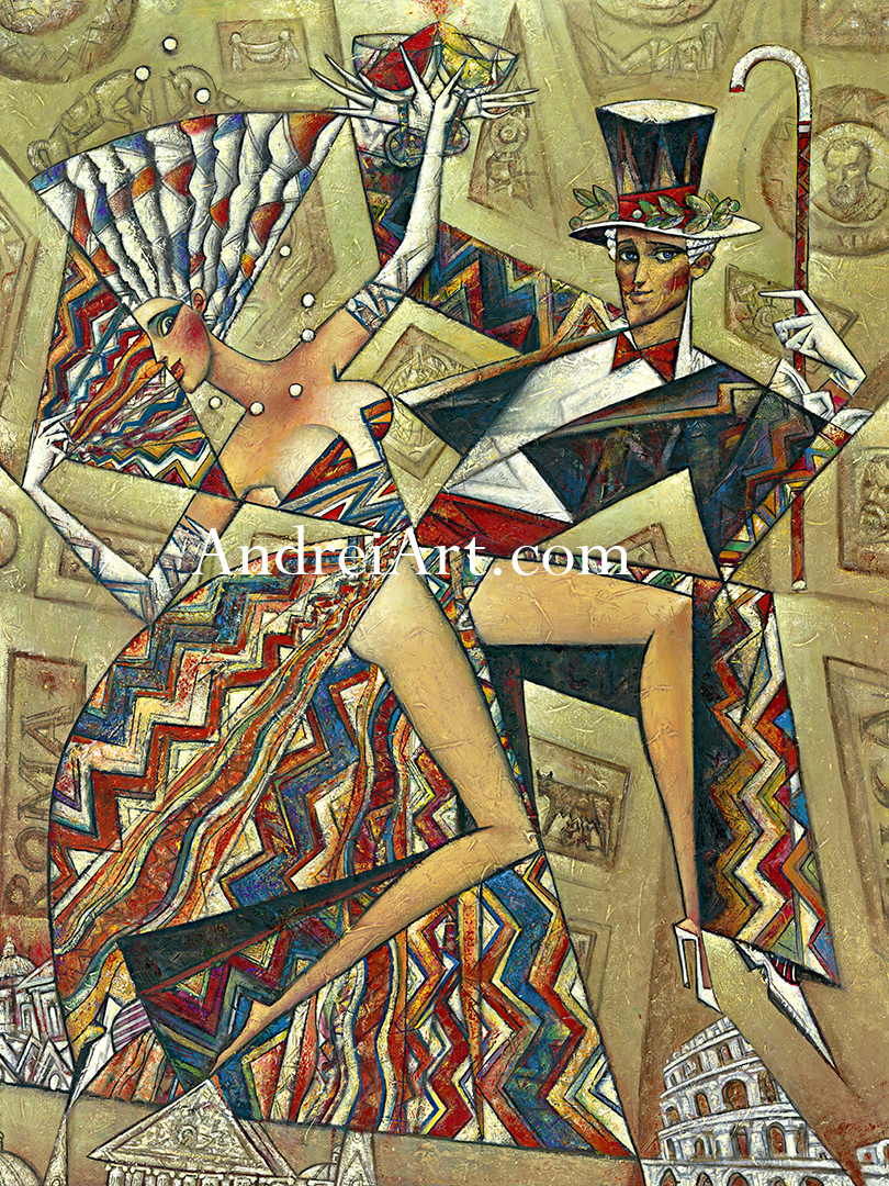 """Rome Antique"" Oil on Canvas 48"" x 36"""