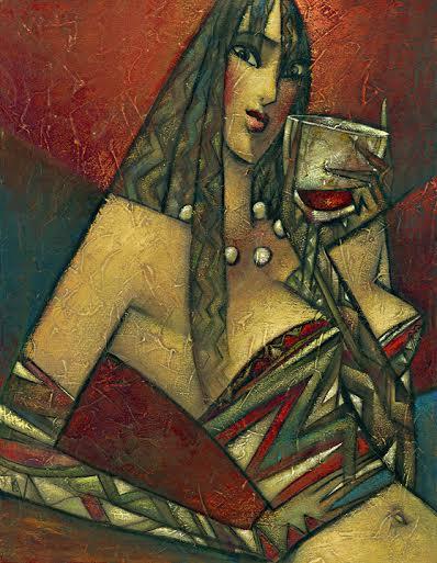 """Pinot Noir"" Oil on Canvas 20"" x 16"""