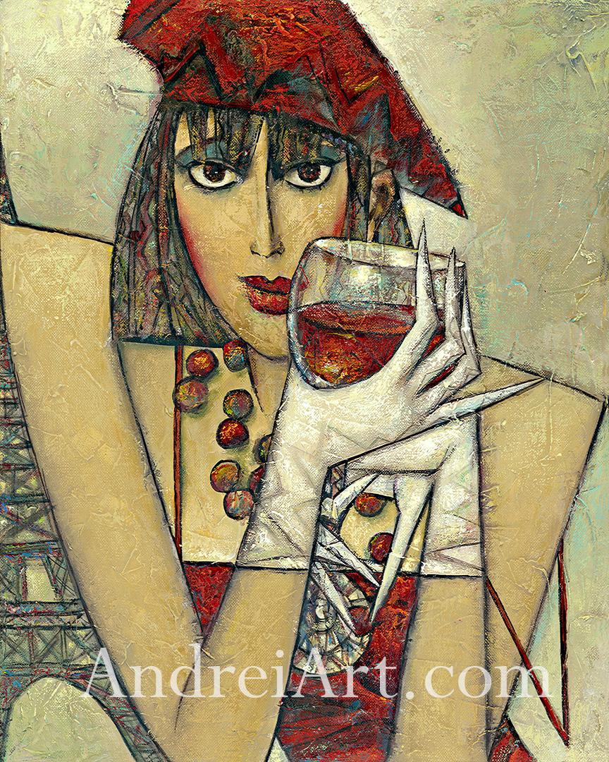 """""""Bordeaux"""" Oil on Canvas 20"""" x 16"""""""