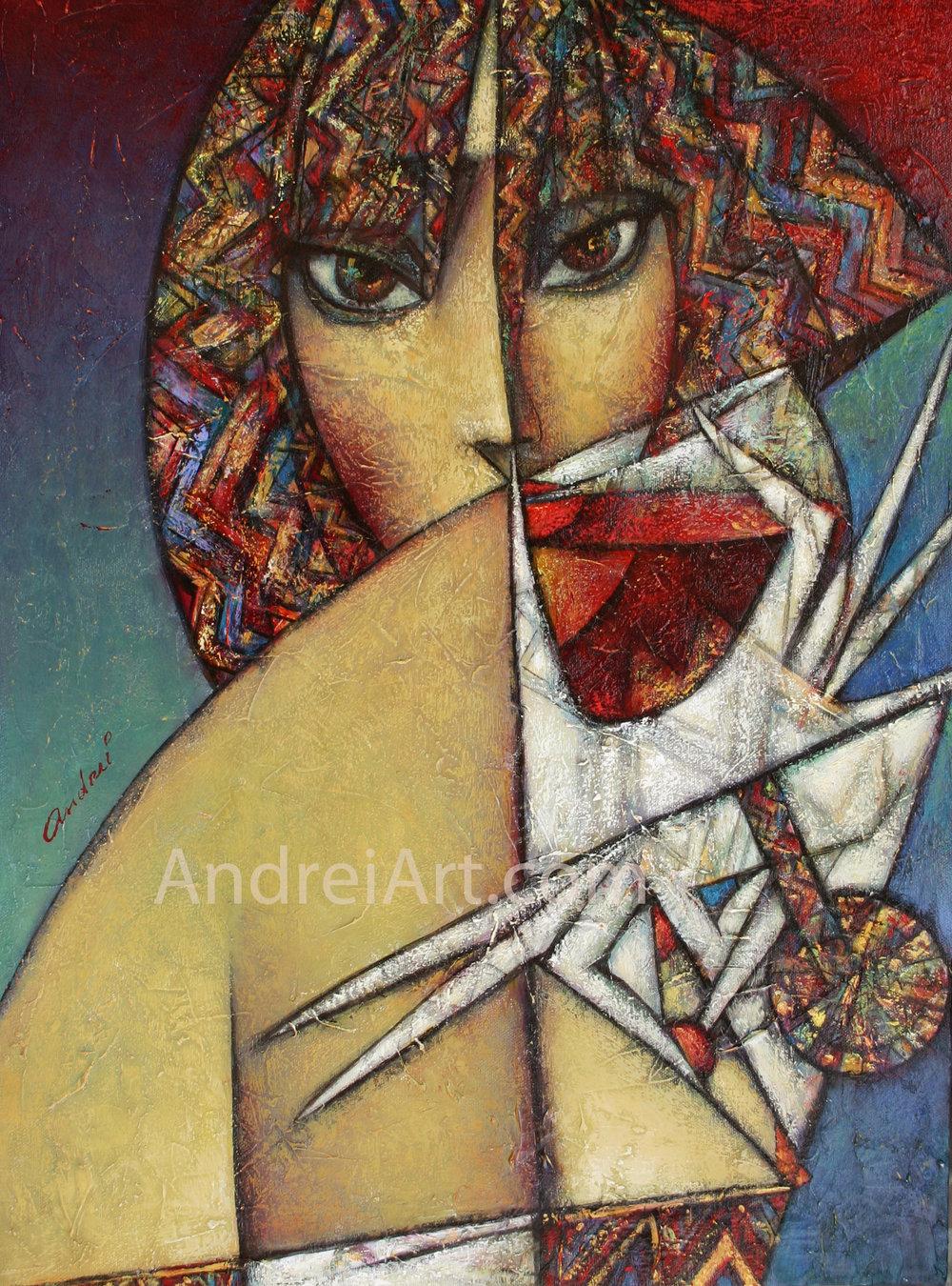 """""""La Rose"""" du Matin"""" Oil on Canvas 24"""" x 18"""""""
