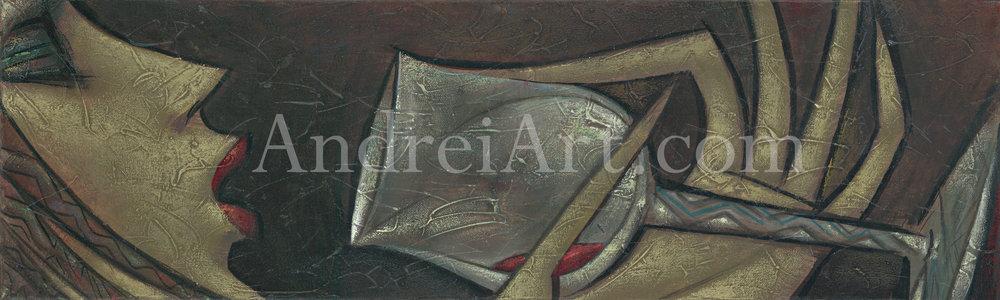 """Last Drop"" Oil on canvas 9"" x 29"""
