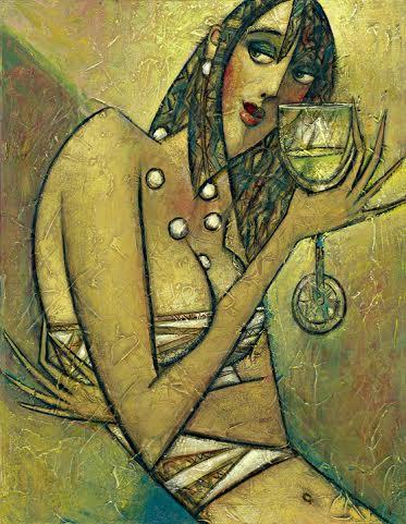 """Pinot Grigio"" Oil on Canvas 20"" x 16"""