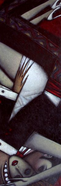 """""""Tempting Moment"""" Oil on Canvas 48"""" x 16"""""""