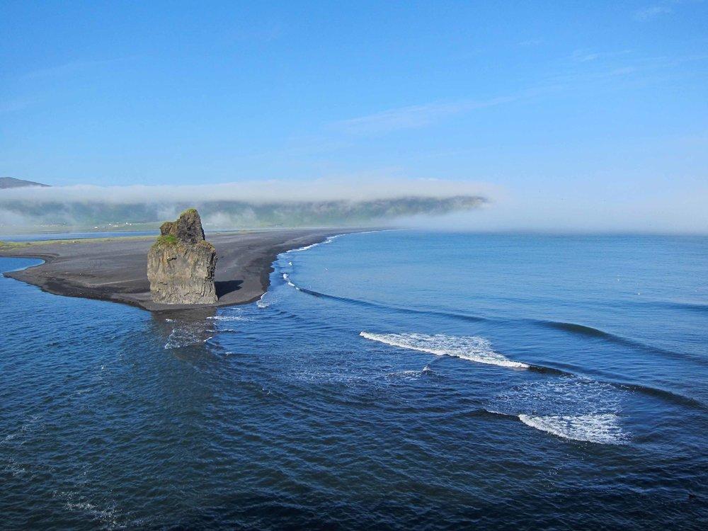 Black Sand Beach at Vík í Mýrdal