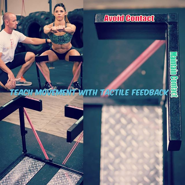 Blocks unwanted knee motion and weight shifting forward. Facilitates desired hip external rotation and abduction for proper muscle recruitment and improved spine position. All with cues that are felt and seen. Not just heard. It's the SquatGuide from Movement Guides. #SquatGuide #squats #squatform #squatangles #squatdepth #squatmechanics #coachingtips #coachingtools #strength #movewell #movementanalysis #movementismedicine #tactilecues #cues #athleticdevelopment #fundamentals #movementpatterns #movelikethis #MovementMafia Learn more at the link in bio