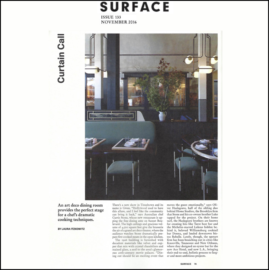 GWEN SURFACE MAGAZINE FEATURE