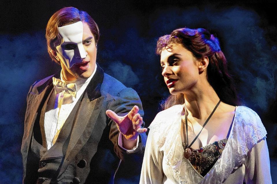 Cooper Grodin as the Phantom in Phantom of the Opera