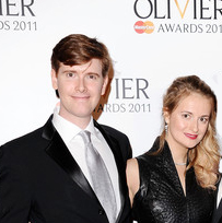 Laurence O'Keefe and Nell Benjamin winning the 2011 Olivier Award