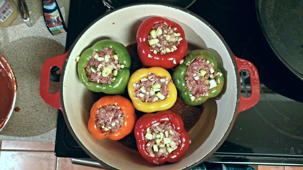 Grain-Free Stuffed Peppers with a Kick