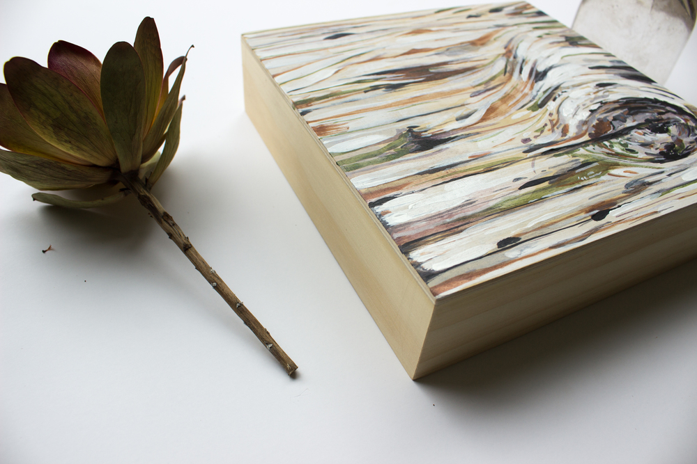 "Sand,  8""x8"",acrylic on cradled birch wood panel"