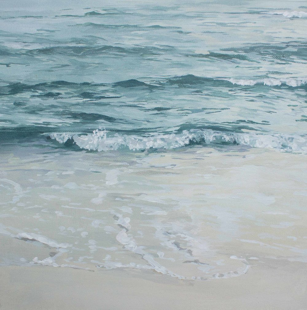 "Sparkling Waves 12x12"""