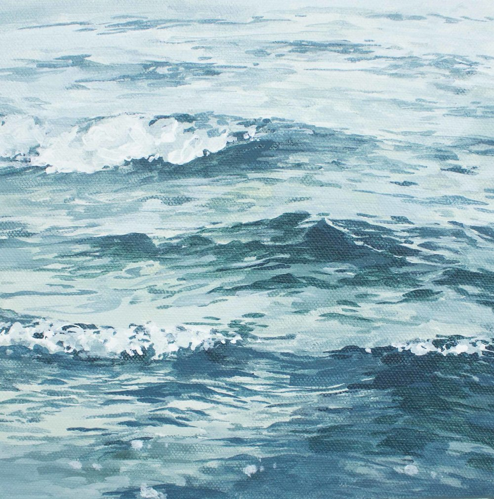 """Turquoise Waves 8x8"""""""