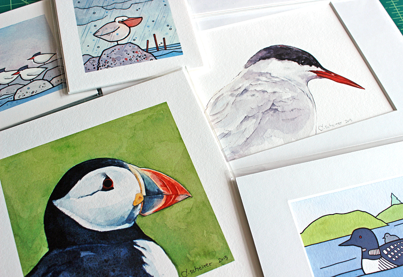 maine bird prints