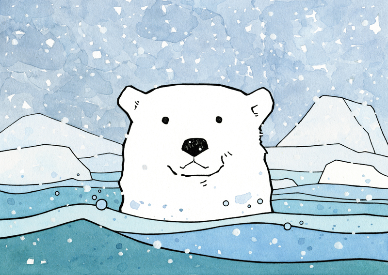 polar bear illustration - studio tuesday