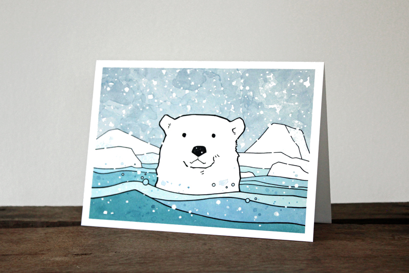 polar bear card - studio tuesday