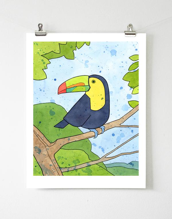 11x14 Toucan Art Print