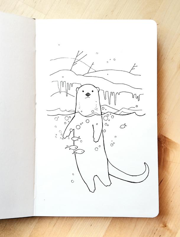 otter ink sketch