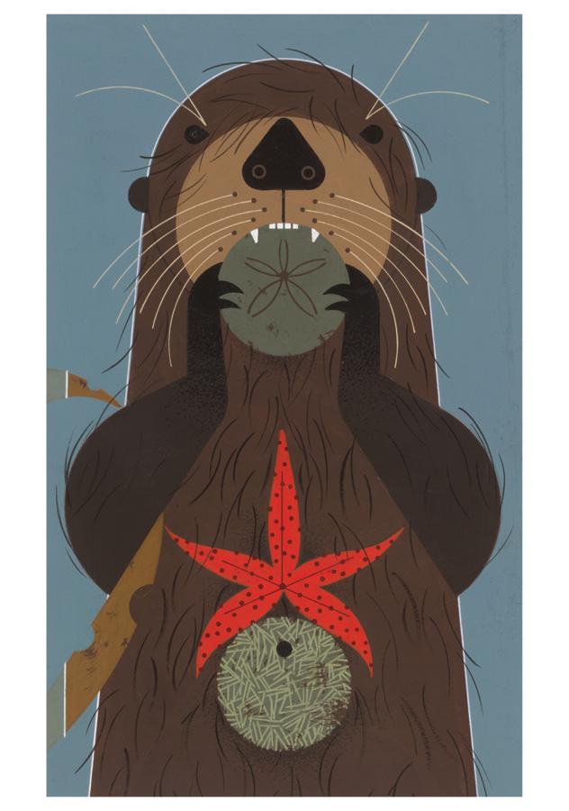 charley-harper-sea-otter-art