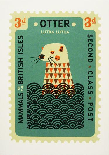 Tom Frost Otter Art Stamp