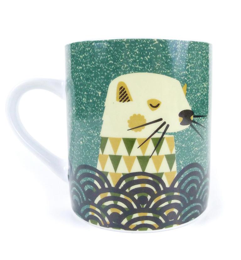 Tom Frost illustrated otter mug