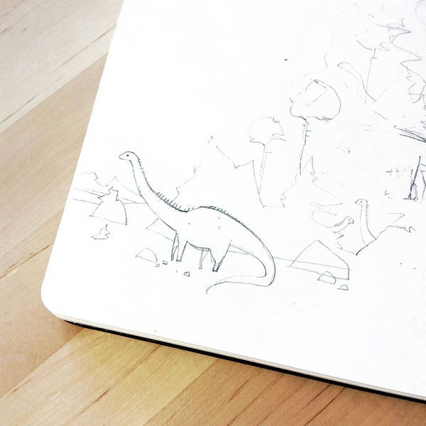Sauropod dinosaur doodle