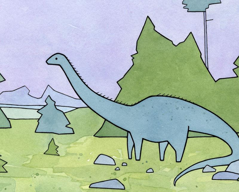 "Diplodocus ""Brontosaurus"" Dinosaur Art"