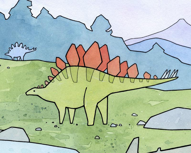 Cute stegosaurus drawing