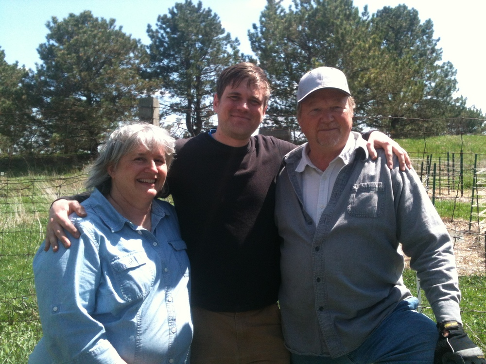 Joe with his first permaculture teachers: Becky and Bill Wilson of Midwest Permaculture. Taken at Midwest Permaculture