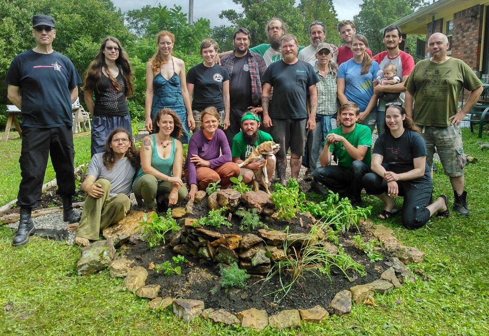 Group picture of the First Vegan Permaculture Design Course at Wild Earth