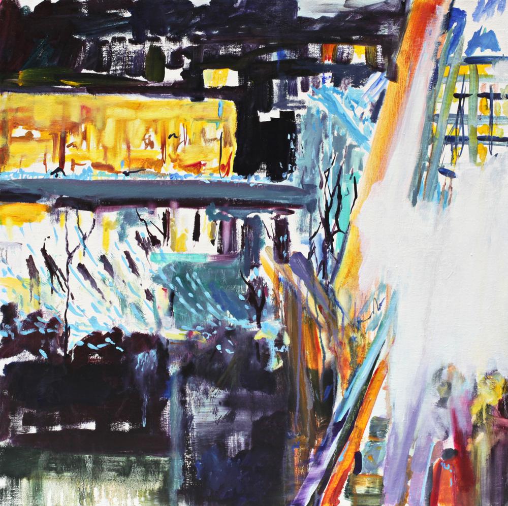 """Festival, oil on canvas, 26"""" x 26"""""""
