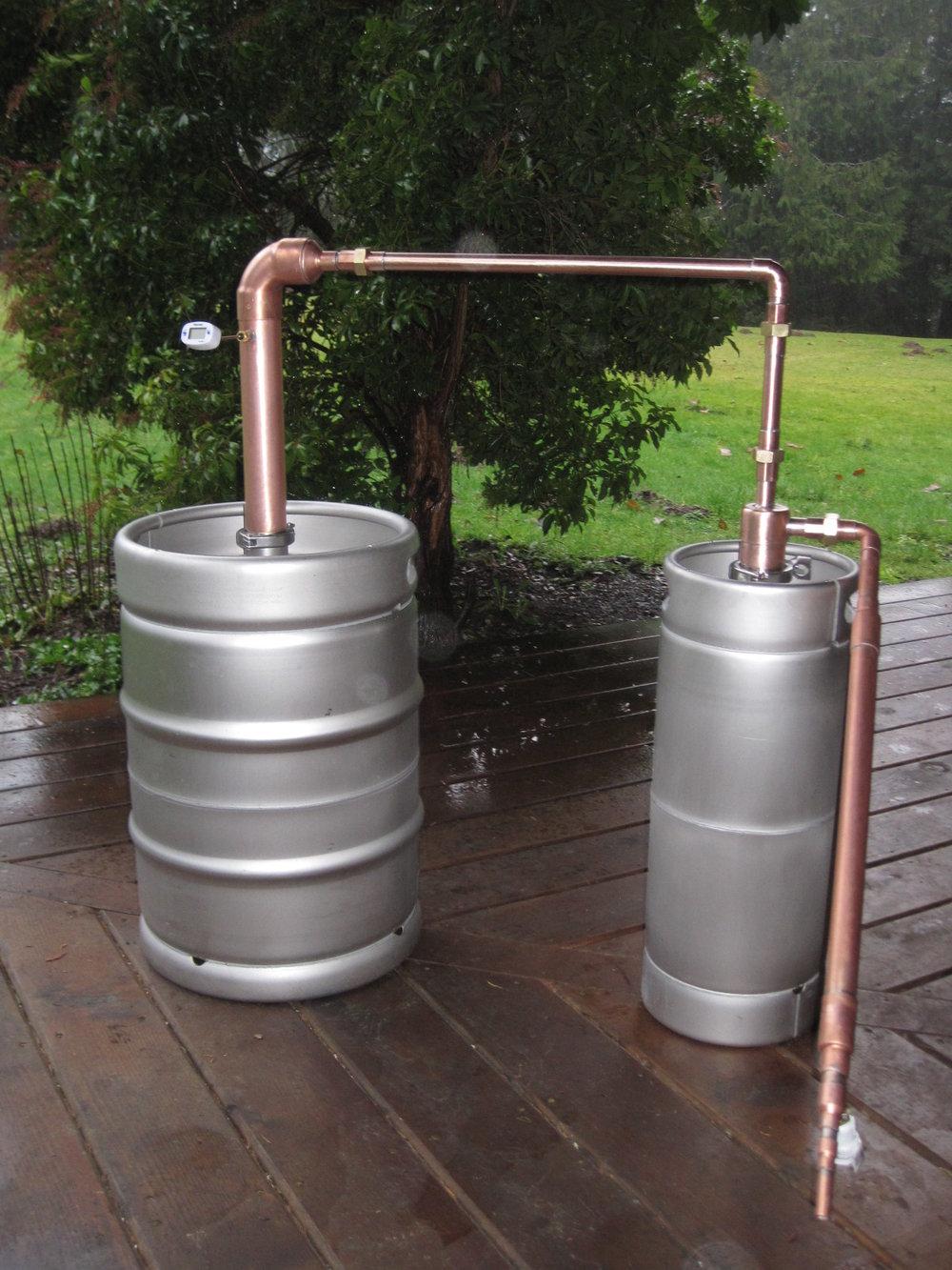 Beer Keg Whiskey Still with Thumper & Leibig Condenser - 3 ...