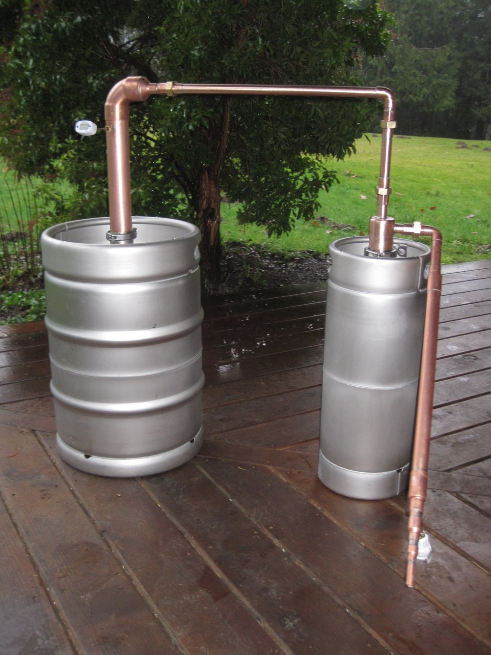 Beer Keg Whiskey Still with Thump Keg