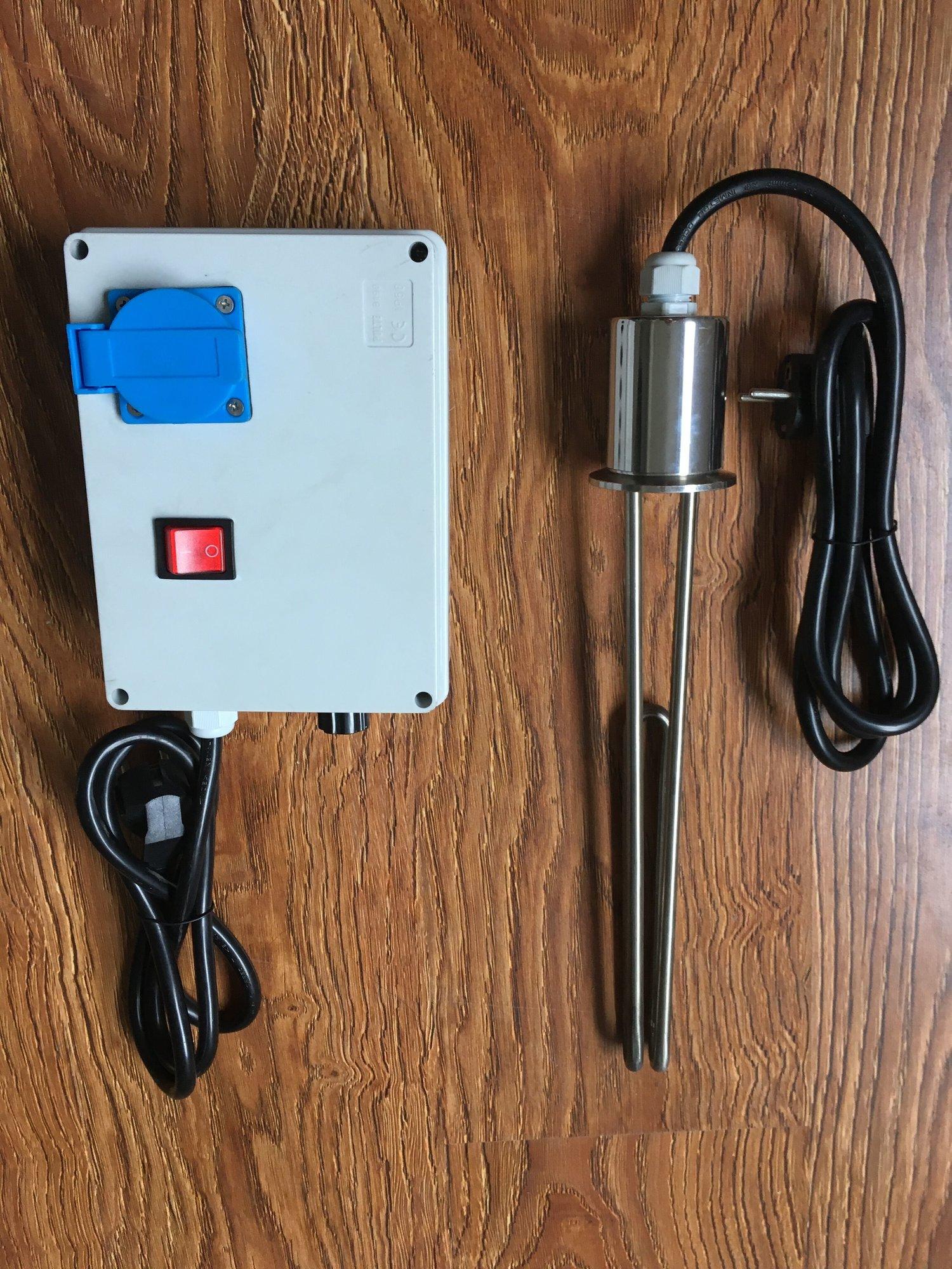 110V Heater Controller with 2000 Watt Element & Boiler Adapter