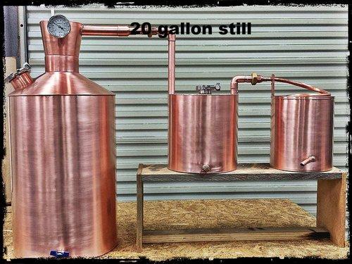 Traditional Appalachian Moonshine Still 10 30 Gallon Burner Style
