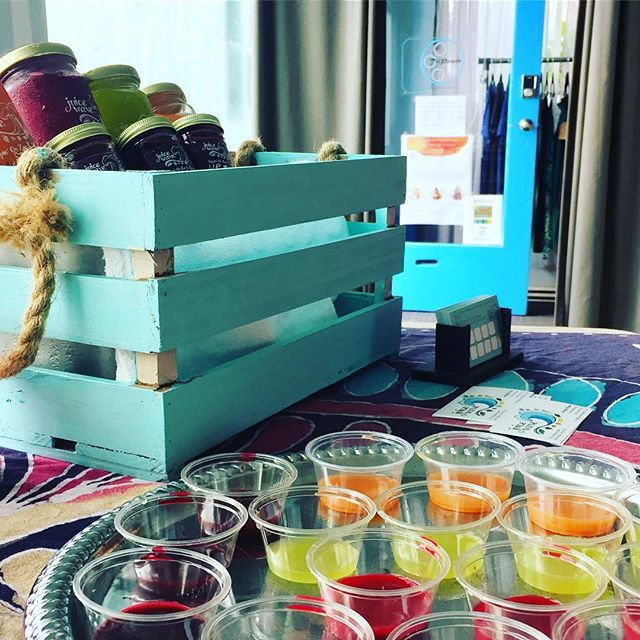 Thank you @tripower_yoga for having us sample at your @integrativeom event. What could be better than yoga and juice!?! #namaste #organicjuice #coldpressedjuice #sandiego #tripoweryoga #ob #reiki #intergrativeom #sandiegoyoga