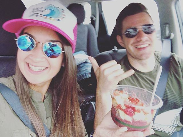 @dianas59 @elbelincho  Came all the way from Dusseldorf Germany to try one of our World Famous Açai bowls! Thank you for visiting us. #acai #grablifebythebowl #roadtrip #California #German #sandiego #strawberry #granola #honey #natural #fresh #organic #friends #happy #love #shoplocal #thankafarmertoday #trucking
