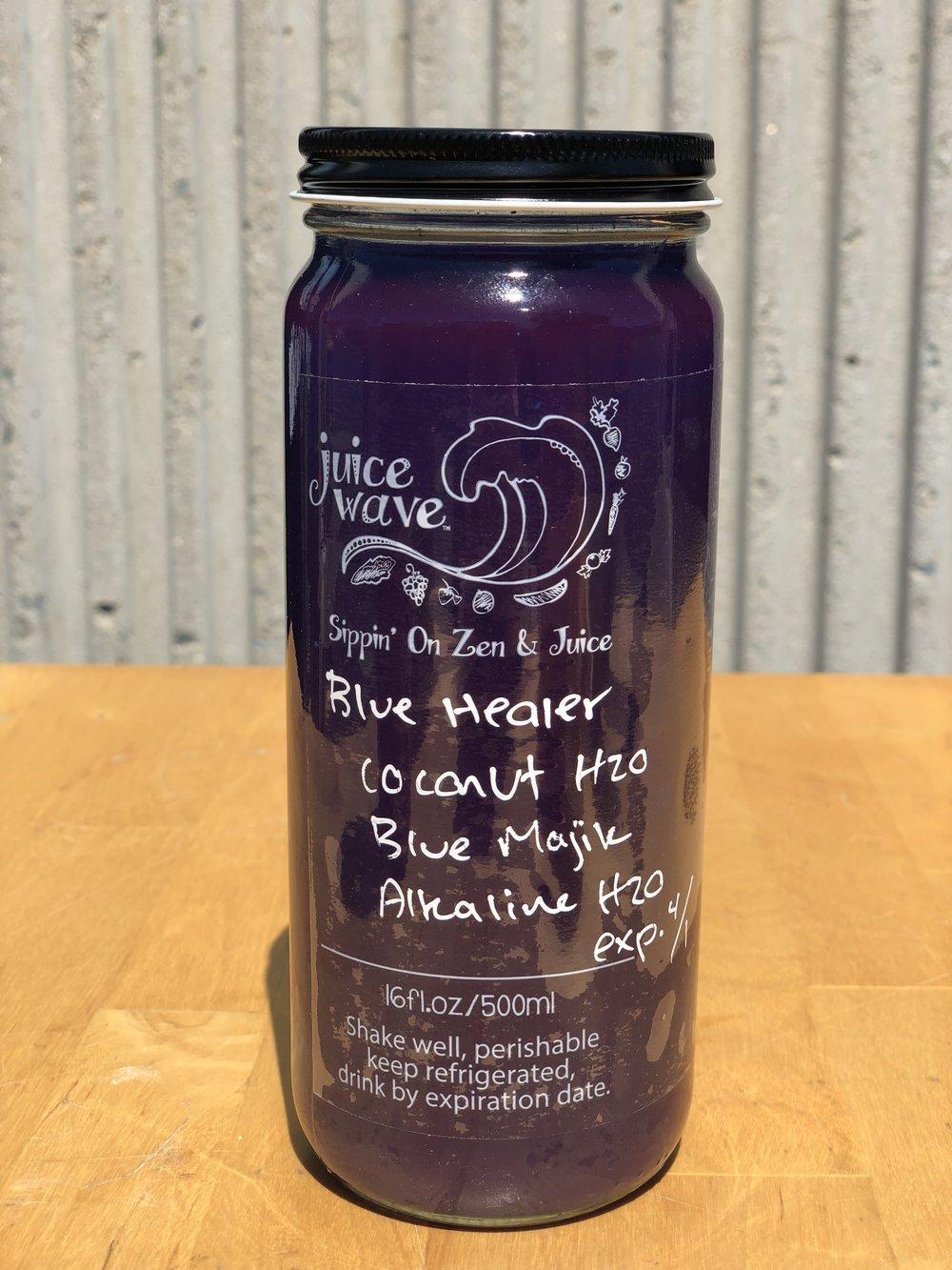 BLUE HEALER: Coconut H2O, Alkaline H2O, Blue Majik