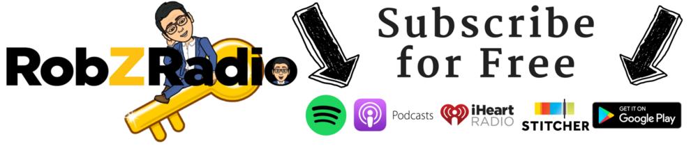 rob z radio podcast subcribe itunes spotify google play