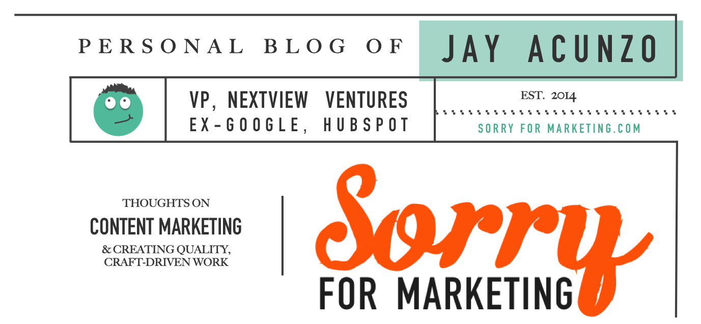 Sorry for Marketing - Jay Acunzo