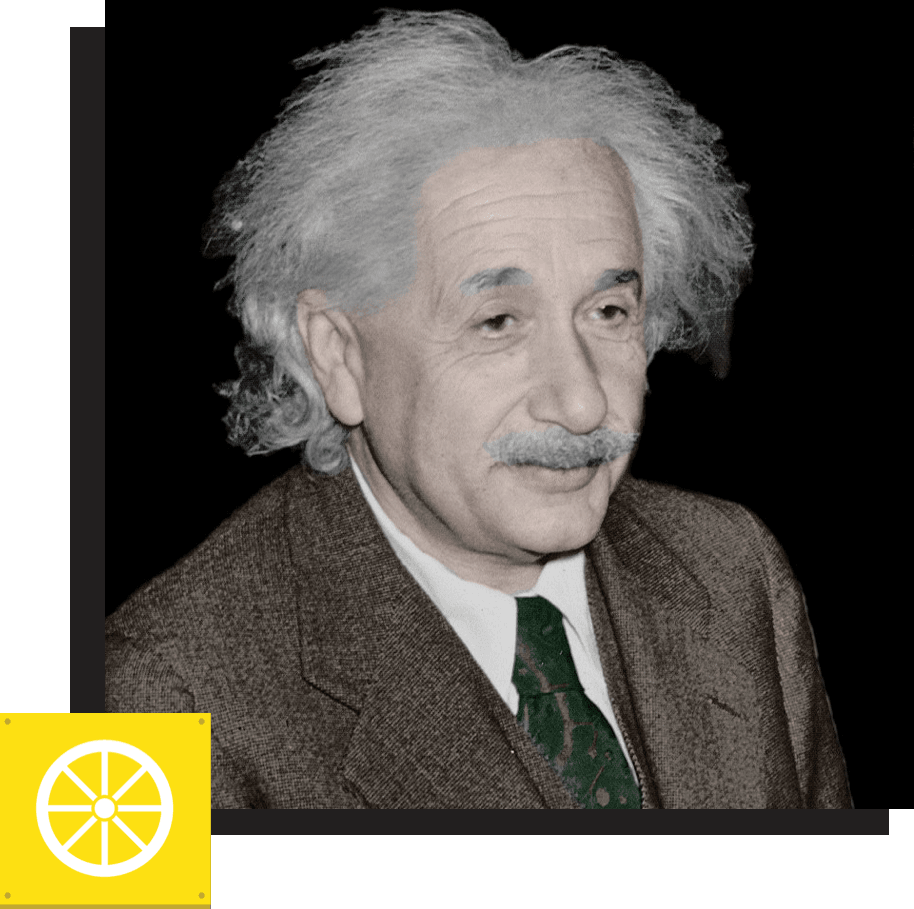 "ALBERT EINSTEIN: Physicist*   ""The only real valuable thing is intuition.""   *Declined to interview for the book"